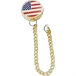 Tie Tackler™ - Tie Tack US Patent 6,857,167.  Attaches to shirt button to hold tie in place.
