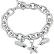 Toggle Chain Charm Bracelet with 1 Charm - Toggle Chain Charm Bracelet with 1 Charm.