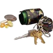 Camouflage Utility Capsule - Blank camouflage anodized aluminum utility capsule with waterproof seal.