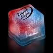 "Light Up Premium LitedIce Brand Ice Cube - 1 3/8"" lighted red, white and blue glow premium ice cube"