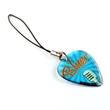 Guitar Pick Cell Phone Charm - Guitar pick cell phone charm with single-sided full color or printed imprint.