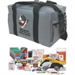Survival Kit - Survival kit with 102 items plus intructional Standard First Aid video course with client's logo on viewing page.