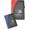 Pulse Junior Padfolio - Junior padfolio with black front with colored heat sealed curve.