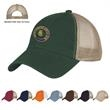 Washed Cotton Mesh Back Cap - Washed cotton mesh back cap with low profile and pre-curved visor.