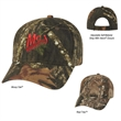 Hunter's Retreat Camouflage Cap - Camouflage cap, 6 panel, medium profile 100% brushed polyester twill.
