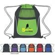 Drawstring Sports Pack With Dual Pockets - Sports pack made of 210 denier polyester and 80 gram non-woven.