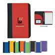 "Non-Woven Small Padfolio - Non woven small padfolio with 5"" x 7"" writing pad and elastic pen loop."