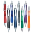 Rio Gel Pen With Contoured Rubber Grip - Gel pen with contoured rubberized grip for writing comfort and control.