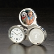 """Round About Clock / Frame - 6.25"""" x 2"""" round about clock with picture frame."""