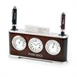 The Executive Clock Desk Set - Clock, thermometer, hygrometer with business card holder.