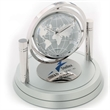 Davant Gimbal Clock / Frame - Desk clock with gimbaled movement, world display second hand, matte finished base and picture frame.