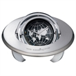 Planetarium Medium Gimbal Clock / Frame - Analog clock with globe design and a picture frame that rotates with a thick metal ring.