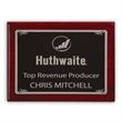 "Fairfield Large Plaque Award - 9"" x 12"" recognition plaque with polished rosewood border and finely smoothed edges."
