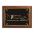 "Ashford Large Plaque Award - 9"" x 12"" recognition plaque with grained walnut wood and a beveled edge."