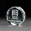 3D Crystal Jewel Paperweight - 3D crystal jewel paperweight with customization options.