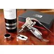 Connoisseur III Wine Accessory Set - Deluxe set with foil cutter, wine thermometer, wine collar and wine opener.