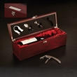 Rosewood Wine Set - Rosewood wine set. Wine not included.
