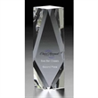 """Algiers Medium Optically Perfect Award - 7.75"""" x 2.5"""" x 1.75"""" hand cut, polished and multi-faceted award made of optically perfect glass."""
