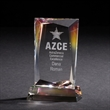 Achievement Dichroic - Small Award - Optically perfect crystal award with a beautifully angled shape and colorful dichroic coating.