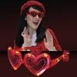 Flashing Heart Shaped Red Light Up Sunglasses