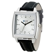 Unisex Fashion Watch - Fashionable unisex watch with 39mm brushed silver metal case and classic leatherette straps.