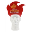 Flame Foam Popup Visor - Foam flame pop-up visor. One size fits most.