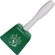 Green Cowbell With Handle - Metal cowbell with wood handle.