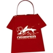 T-Shirt Shaped Cowbell - Cowbell shaped like a t-shirt, perfect for many clothing promotions.