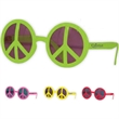 Peace Glasses - Neon colored peace sign designed glasses in assorted colors.