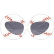 Baseball Glasses - Plastic, adult baseball shaped glasses.