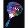 Light-Up Fan - Clear plastic fan with LED lights that have 7 blinking modes.
