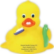 """Dental Duck - 3 1/2"""" yellow rubber duck with dental theme."""