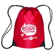 Drawstring Backpack - Backpack with nylon braided drawstring closure and customization.