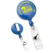 """Economy Round Retractable Badge Holder - Round retractable badge holder with 30"""" nylon cord and slide-on clip on the back."""