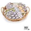 Corporate Image Gift Baskt- 18pc - Logo basket decorated with custom sprinkle blend