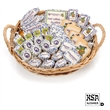 Corporate Image Gift Basket- 72pcs - Your logo on delicious treats with customized sprinkles