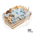 Custom 36 piece Logo Snowflake Basket - Irrisitable Custom 36 Peice Logo Snowflake Gift Basket