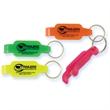 Neon Bottle Opener - Neon colored bottle opener with split key ring.