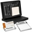 Barclay Glass Gift Set - Glass Gift set includes business card holder and message pad holder.