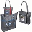 City Scape Tote - 600 denier polyester tote with zippered main compartment and front pocket.