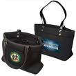 Executive Neoprene Tote - Neoprene tote with PVC handles and zippered internal pocket. Closeout.