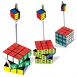 Rubik's (R) Cube NoteNest - ABS plastic puzzle cube note holder with swiveling horizontal panels.