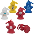 Fire Hydrant Pet Waste Bag Dispenser - Fire hydrant pet waste bag dispenser with 10 biodegradable white waste bags.