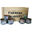 """Garden Blend - Four ounce gift tin filled with polybagged garden blend vegetable seasoning with full-color 3"""" label."""
