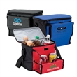 """Rugby 12-Can Cooler - 12-can cooler with 1 1/4"""" x 40"""" adjustable shoulder strap; includes fold-away dual cup holder."""