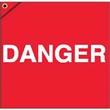 "18"" x 18"" Fluorescent Danger Flags With Brass Grommet"