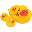 Duck Family Soap Holder - Four piece rubber duck family, 1 big and 3 small ducks, can be a soap holder.
