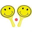 Smiley Face Paddle Ball Set - Paddle ball set.