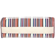 Elongated Brush Bag With Belly Band - Elongated brush bag with belly band.