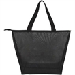 Fashion Clear w/Mesh Tote Bag - Fashion Clear with Mesh Tote Bag have full length zipper and frosted feel add to the elegant look.